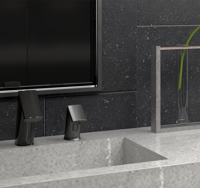 SLOAN Touchless Soap and Faucet